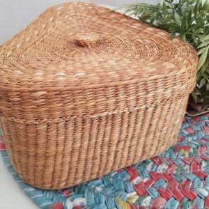Triangular basket.